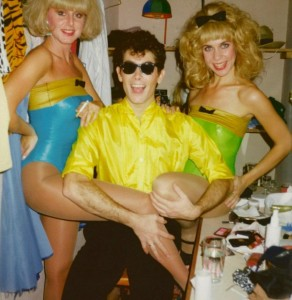 With Luciano Zuppa and Gaby Lomberg in the dressing room at No. 58, mid 80s.