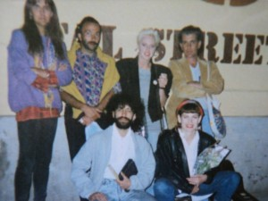 The original LEGENDS, touring Windhoek during Untag. Kai, Didi Kriel , Steve Walsh, Reuben Samuels and Joanna Weinberg. 1988.